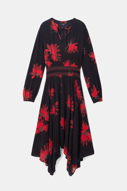 Long sleeve flared dress | Desigual