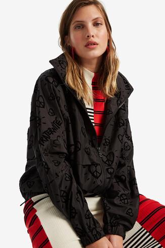 Lightweight velvet hearts jacket