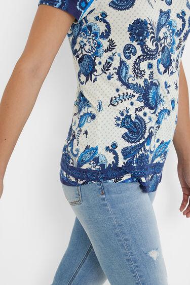T-shirt met paisley-print | Desigual