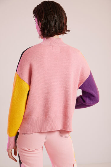 Short tricot print jumper | Desigual