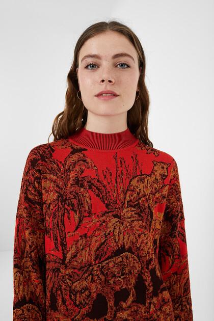 Oversize tricot jumper