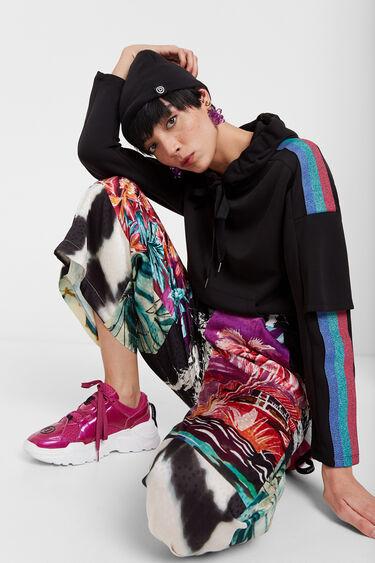 Culotte de inspiración oriental floral | Desigual