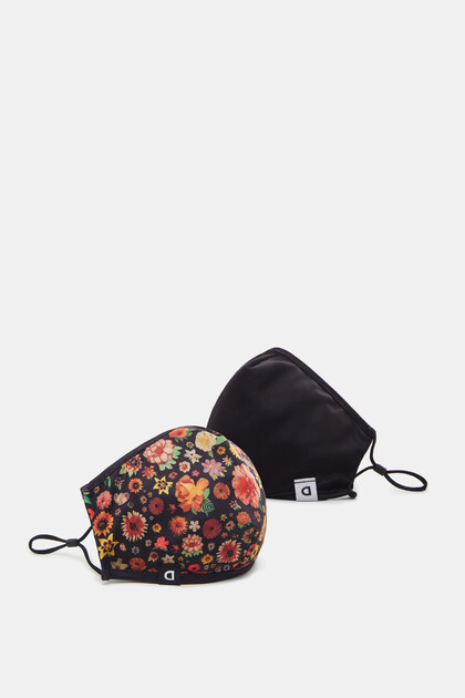 Floral mask + pouch