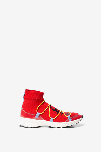 Scarpe con calzino print navajo