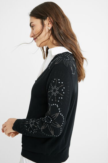 Loose fit V-neck jumper | Desigual