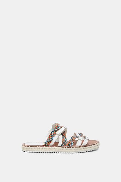 Flat sandals buckle straps