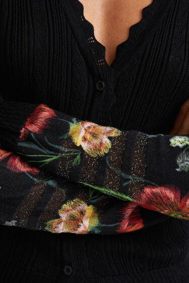 Veste maille fleurs | Desigual