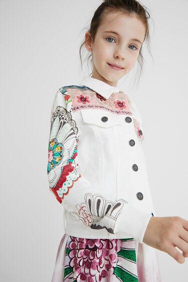 Denim jacket plush sleeves | Desigual