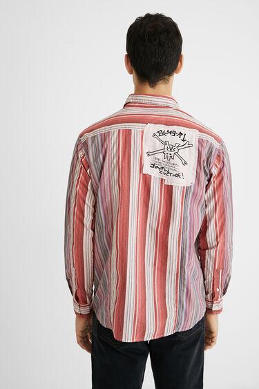 Cotton shirt patch messages | Desigual