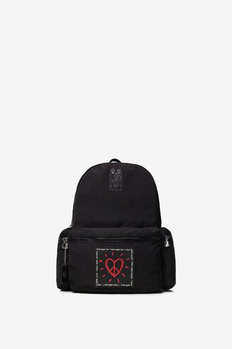 Heart keyring backpack