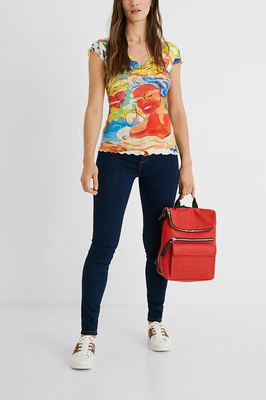 Fijngeribd slim fit T-shirt | Desigual