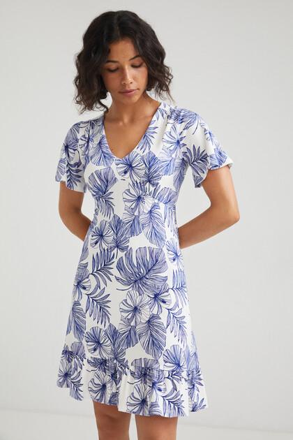 Korte soepelvallende jurk