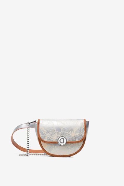 Floral silver bum bag