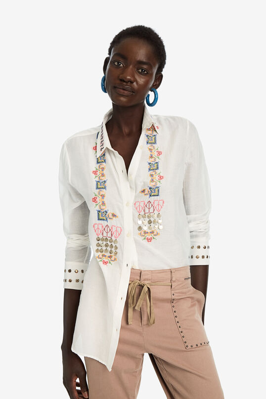 Embroidered silk shirt | Desigual