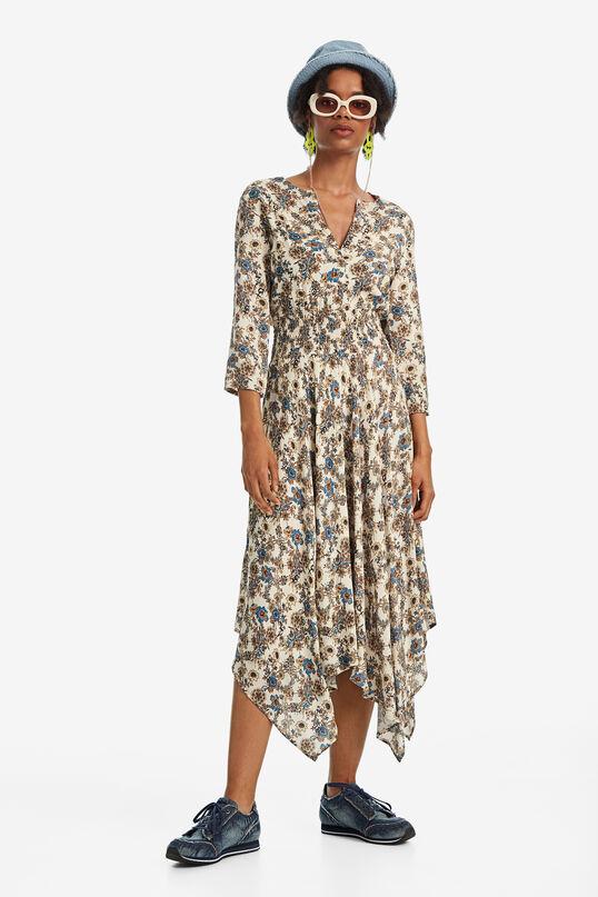 Boho dress with asymmetric hemline | Desigual