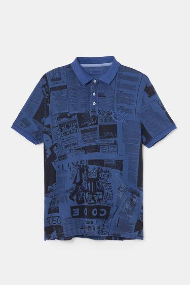 Printed cotton polo shirt | Desigual