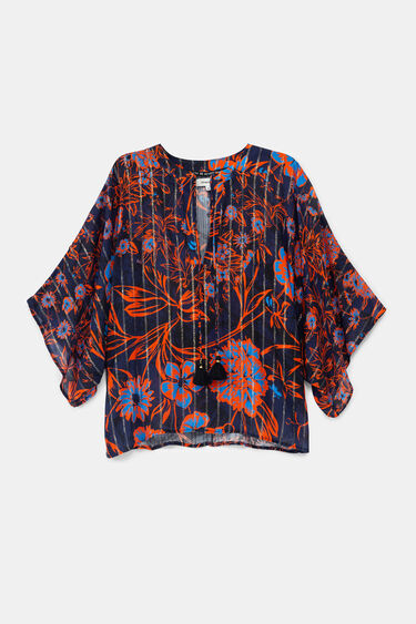 Floral batwing sleeve blouse | Desigual