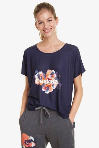 Oversize-Shirt Camo Flower