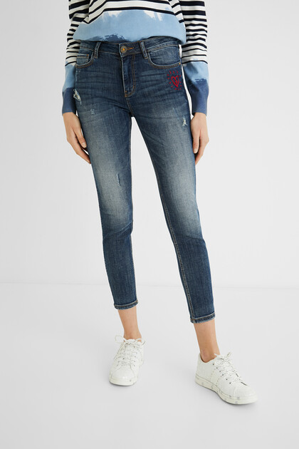 Jeans skinny cuore