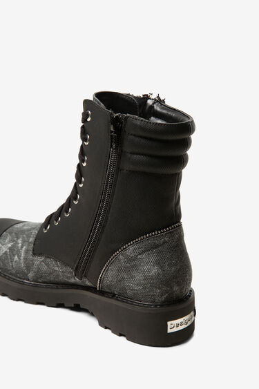 Embroidered military boots | Desigual