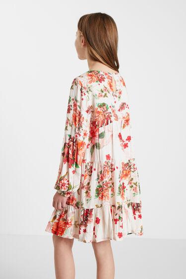 Vestido curto flores   Desigual