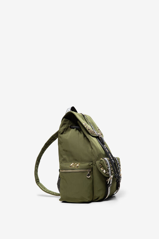 Stud backpack with slogan straps | Desigual