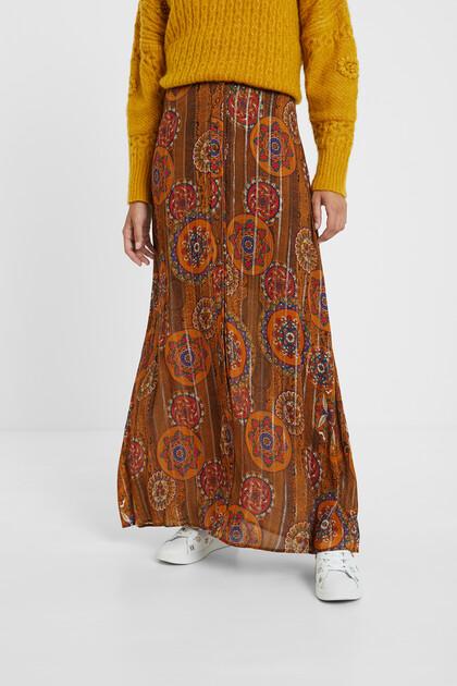 Long skirt viscose Lurex