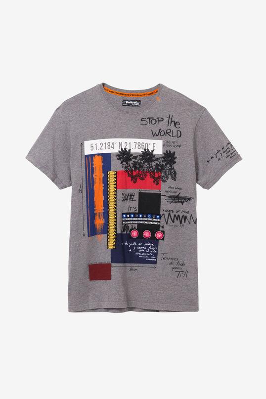 T-shirt 100% coton imprimé varié | Desigual