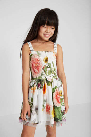 Short dress with straps | Desigual