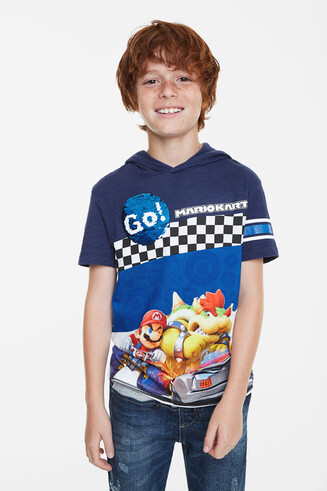 Mario Kart and Go! sequins T-shirt
