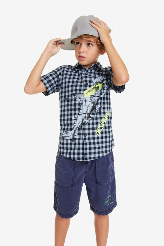 Check Shirt with Whale Radish | Desigual