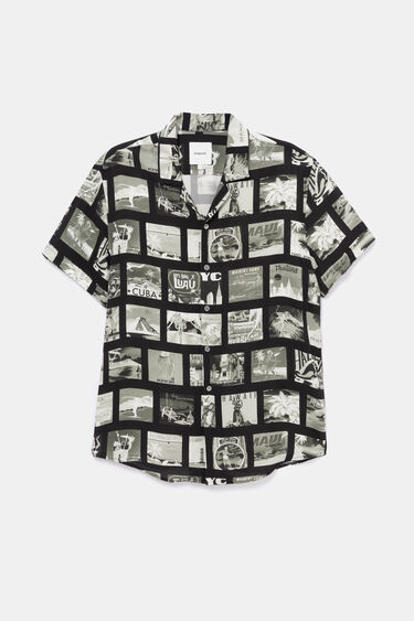 Shirt with photo-postcard   Desigual