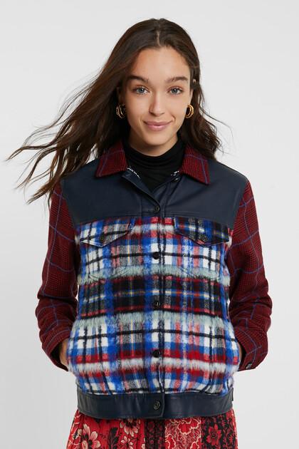 Tartan fur jacket
