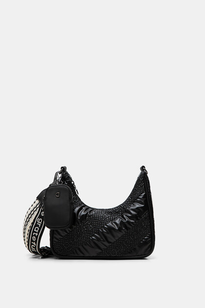 Padded half-moon bag