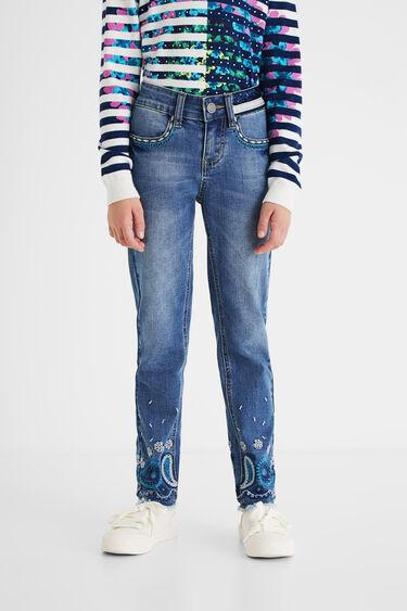 ペイズリー レギュラージーンズ | Desigual