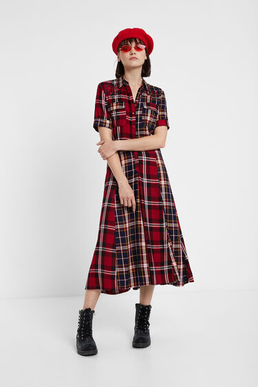 Checked shirt dress | Desigual