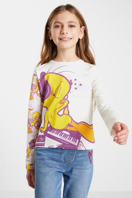 T-shirt met lange mouwen en Tweety-print