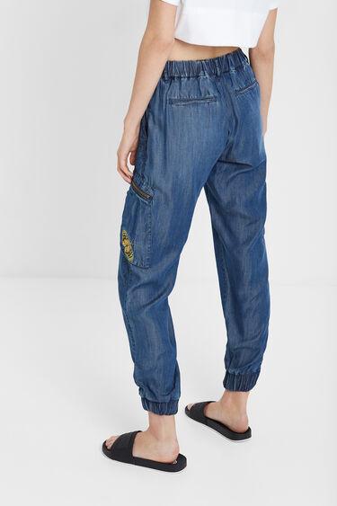 Denim cargo trousers | Desigual