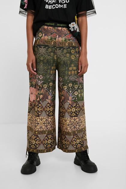 Calças culotte de inspiração indiana