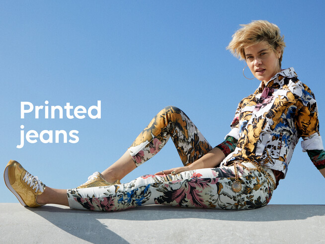 Floral ankle grazer trousers