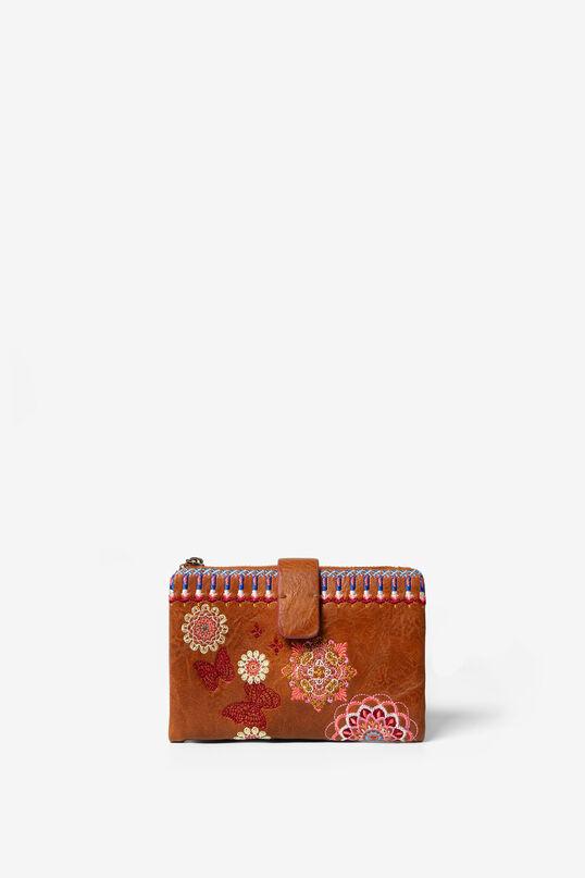 Medium embroidered coin purse   Desigual