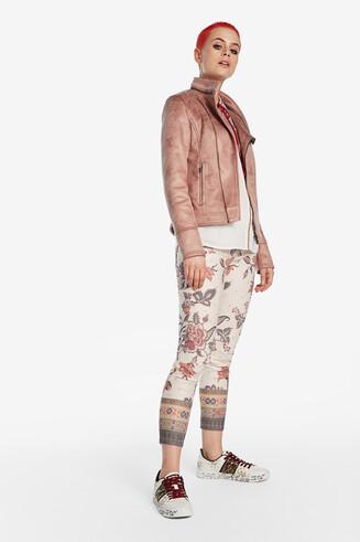 Giacca biker rosa
