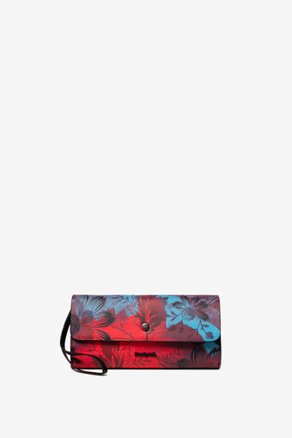 Monedero floral reversible