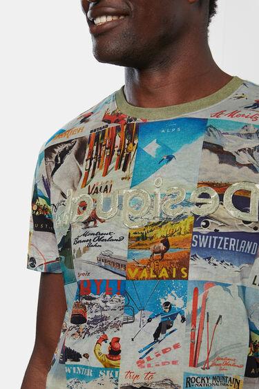 100% katoenen T-shirt met ansichtkaarten | Desigual