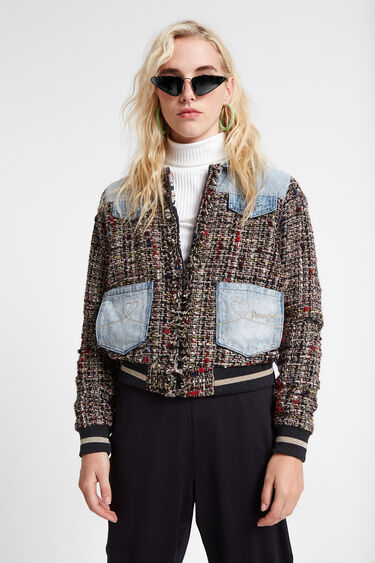 Varsity jean jacket | Desigual
