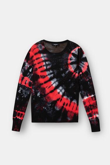 Tie-dye mandala knit jumper | Desigual