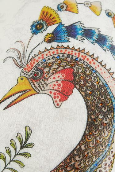 Flounced T-shirt peacock | Desigual