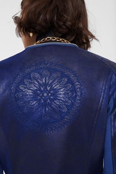 Biker jacket embossed back | Desigual