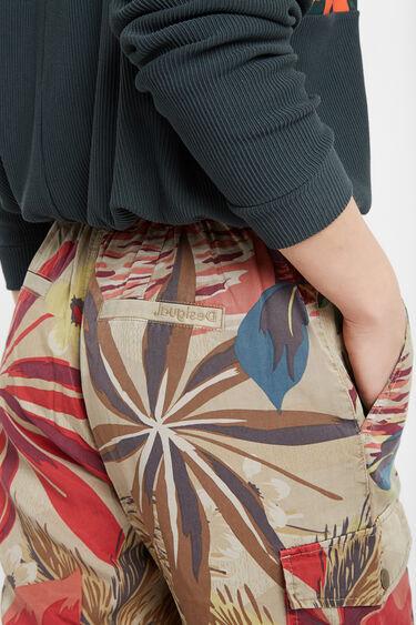 Pantalons florals de butxaques Tencel™ | Desigual