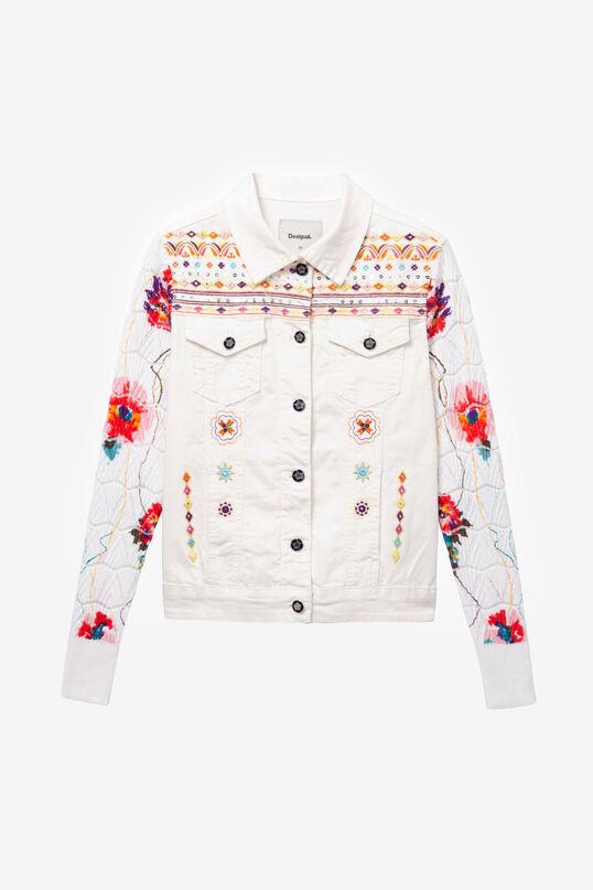 White Trucker Jacket Carrie | Desigual